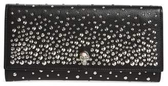 Alexander McQueen Studded Leather Travel Wallet