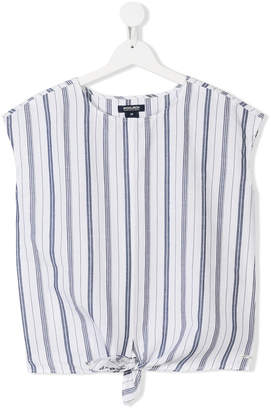 Woolrich Kids TEEN striped tie top