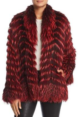 Maximilian Furs x Zac Posen Feathered Fox Fur Coat - 100% Exclusive