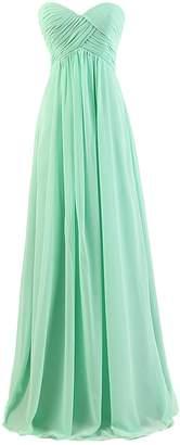 VaniaDress Women Ruffle Strapless Long Bridesmaid Dress Evening Gown V145LF L