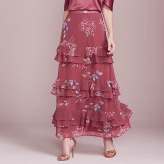 LC Lauren Conrad Dress Up Shop Collection Tiered Ruffle Maxi Skirt - Women's $68 thestylecure.com