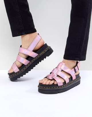 Dr. Martens Yelena Sandal In Pink Metallic