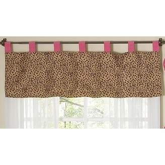 JoJo Designs Cheetah Girl Pink and Brown Window Valance by Sweet
