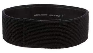 Alberta Ferretti Braided Oversize Waist Belt