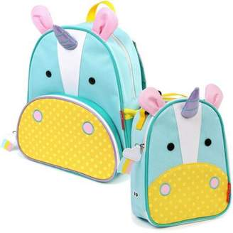 Skip Hop Childrens Zoo Pack Backpack & Lunchie Lunch Bag Combo - Unicorn