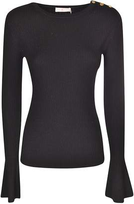 Tory Burch Buttoned Shoulder Sweater