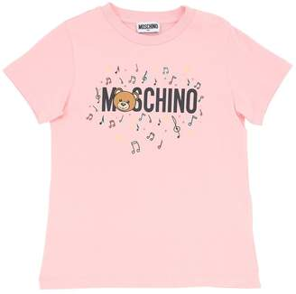 Moschino Logo Print Cotton Jersey T-Shirt