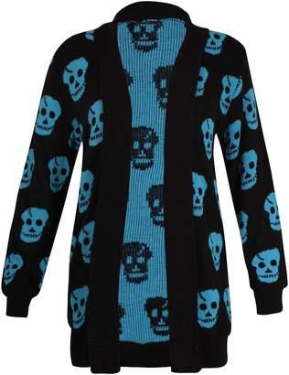 Purple Hanger Women's Plus Size Print Open Cardigan Top 20-22