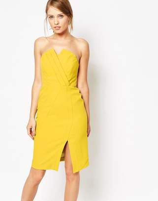 Oasis Structured Bandeau Dress $159 thestylecure.com
