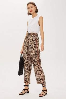 Topshop Petite Leopard Print Trousers