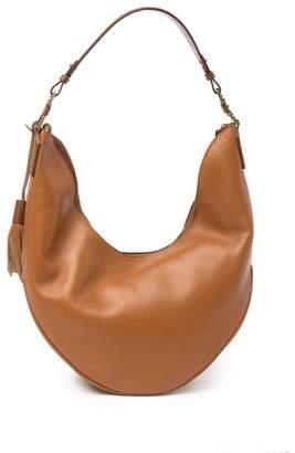 Aquatalia Leather Tassle Hobo Bag