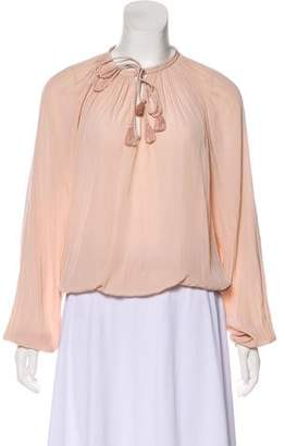 Ramy Brook Long Sleeve Ruched Top