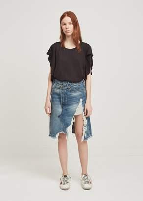 R 13 Norbury Short Denim Skirt Jasper