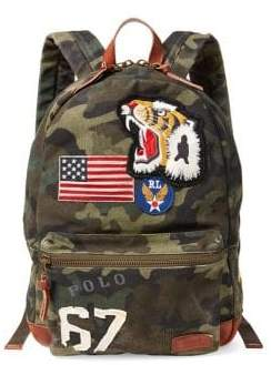 Polo Ralph Lauren Patchwork Camo Canvas Backpack