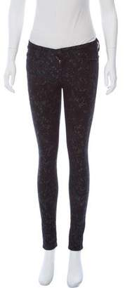 7 For All Mankind Jacquard Mid-Rise Pants