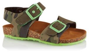 George Camo Print Sling Back Sandals