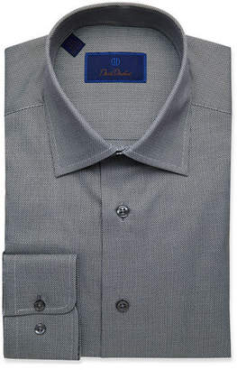 David Donahue Men's Regular-Fit Check Dress Shirt