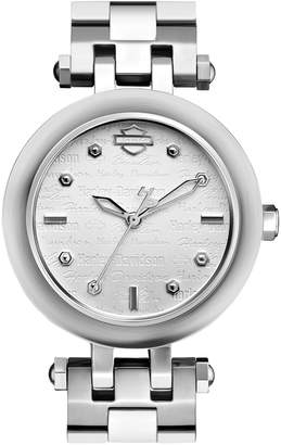 Harley-Davidson The Scoop Case Stainless Steel Analog Watch