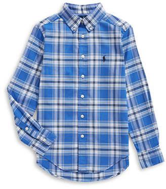 Ralph Lauren Childrenswear Performance Oxford Collared Shirt
