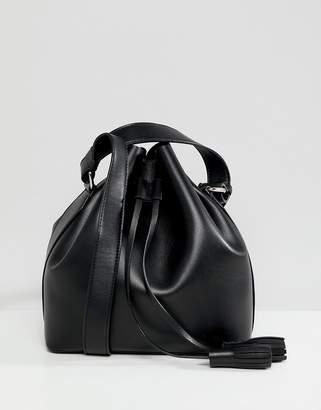 Faith Black Duffle Bag With Cross Body Bag