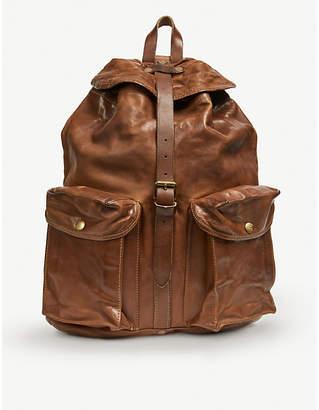 Riley leather rucksack