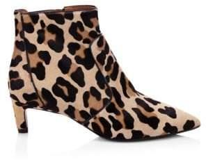 Aquatalia Marilsa Leopard Calf Hair Ankle Boots