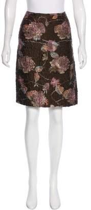 Miu Miu Textured Knee-Length Skirt