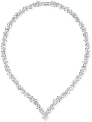 "Swarovski 16"" Silver-Tone Marquise Crystal V-Necklace $249 thestylecure.com"