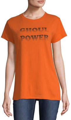 City Streets Short Sleeve Crew Neck T-Shirt-Womens Juniors