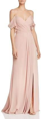 Watters Aldridge Cold-Shoulder Gown