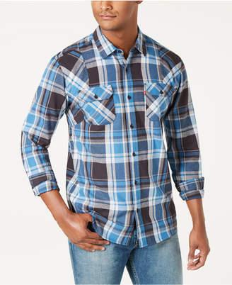 8b0b4c83d Levi s Men Flannel Twill Plaid Shirt