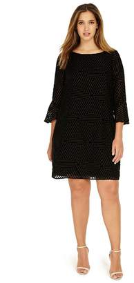 Studio 8 - Sizes 12-26 Black Alice Shift Dress