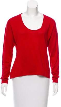 Hermes Scoop Neck Long Sleeve Sweater