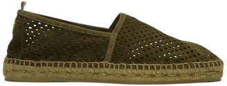 Castaner Green Perforated Pablo Espadrilles