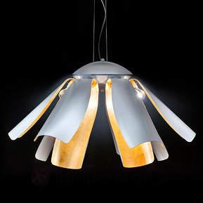Blattgold-Designer-Hängeleuchte Tropic 100 cm
