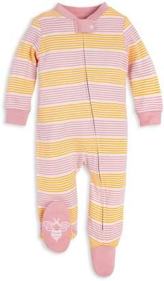 Burt's Bees Farm Field Stripe Organic Baby Sleep & Play Pajamas