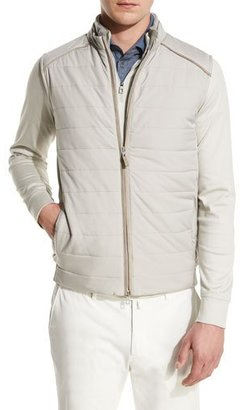 Loro Piana Ryder Cup Storm System Quilted Vest, Tan $1,795 thestylecure.com