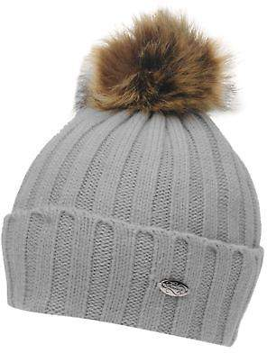 Firetrap Womens Etna Beanie Hat Bobble Warm Faux Fur