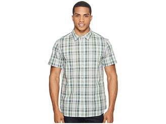 The North Face Short Sleeve Passport Shirt (High-Rise Grey Plaid