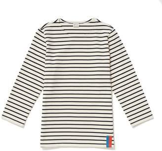 Kule Cream & Navy Classic Stripe Tops - M - White/Black