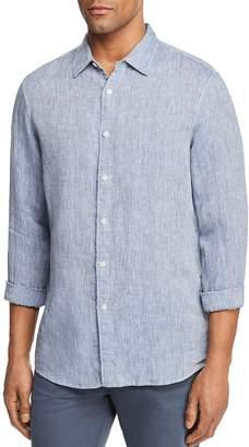 Michael Kors Cross Dye Linen Long Sleeve Button-Down Shirt