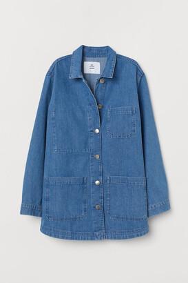 H&M Denim Utility Jacket - Blue