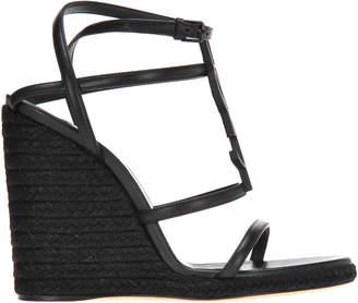 Saint Laurent Cassandra Wedge Sandals
