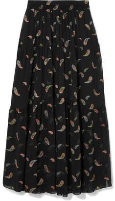 Chloé Chiffon-jacquard Maxi Skirt