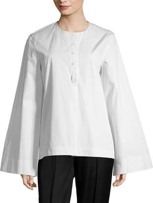 Celine Bell Sleeve Poplin Blouse