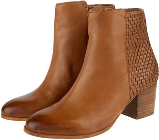 bc80ad0a05af Monsoon Wanda Woven Leather Ankle Boots