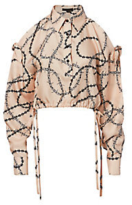 Blush Print Slit Sleeve Top