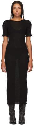 MM6 MAISON MARGIELA Black Fitted Thin Rib Dress