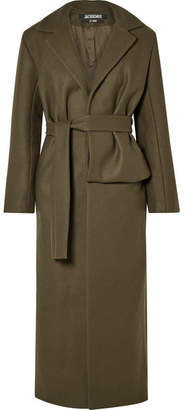 Jacquemus Aissa Belted Wool-blend Coat - Army green