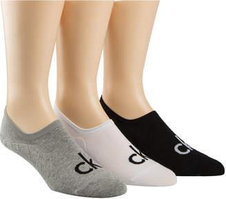 Calvin Klein Men's Logo Sock Liners, 3-Pack